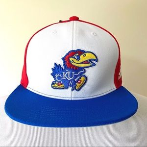 New Adidas Kansas Jayhawks Custom Fitted Hat 6 5/8
